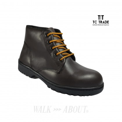 WALK ABOUT® Men Lace-up Safety boots with Waxed Buffalo leather (6907 Brown 031 SB P HRO)
