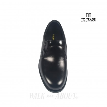 WALK ABOUT® Slip-on Shoes with Genuine Smooth Cow Leather (3806 Black 06)