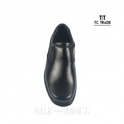 WALK ABOUT® Slip-on Shoes with Genuine Soft Cow Leather (912 051 Black 18)