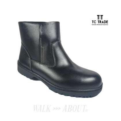 WALK ABOUT® Slip-on Safety ankle boots with Buffalo leather (6915 Black 039 SB P HRO)