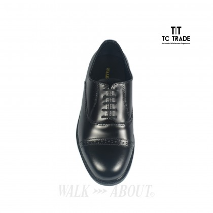 WALK ABOUT® Lace-up Shoes with Genuine Smooth Cow Leather (3810 Black 06)